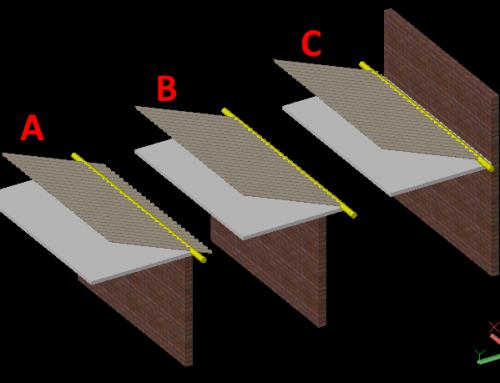 Desenho de Telhado com Uma Água